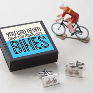 You Can Never Have Too Many Bikes Cycle Cufflinks - what's new