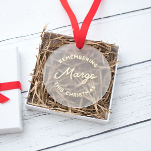 Personalised Remembrance Christmas Keepsake Decoration - home accessories