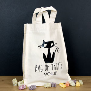 Personalised Halloween Trick Or Treat Bags - trick or treat bags
