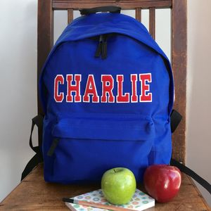 Personalised Applique Name Rucksack - back to school