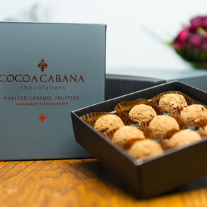 Luxury Gift Box Of Salted Caramel Truffles - dietary food and drink