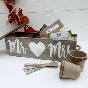Personalised Silver Wedding Anniversary Herb Gift - seeds & bulbs
