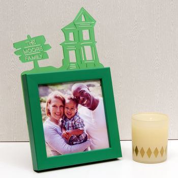 Family Home Mini Frame in Green