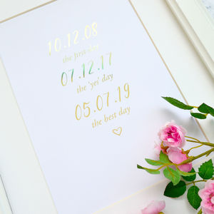 The Best Day Personalised Foil Print