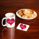 Love Heart 'Mum' Mug And Coaster Matching Set