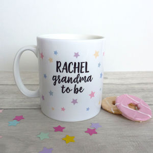 Grandma To Be Personalised Mug