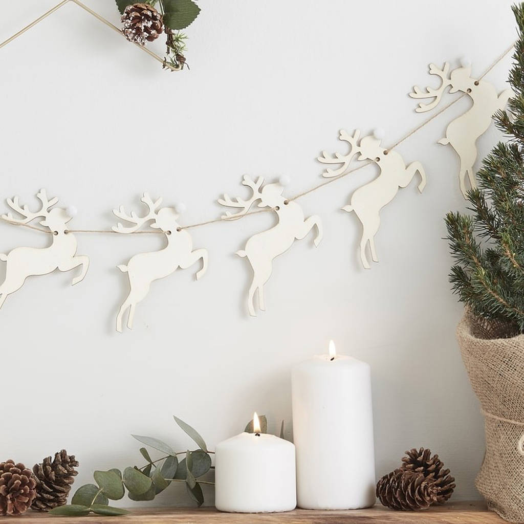 nordic christmas reindeer bunting by the wedding of my dreams ...