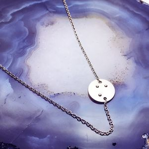 Silver Braille Necklace