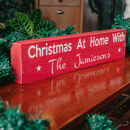 Christmas At Home Personalised Block Sign