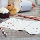 Rose Gold Spotty Foil Party Napkins