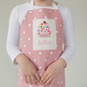Girl's Spotty Apron - children's cooking