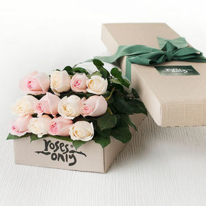 Pastel Mix Rose Gift Bouquet - fresh flowers