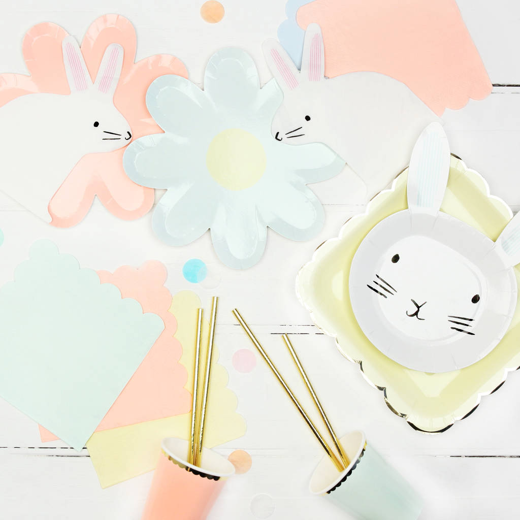 bunny party plates by postbox ...