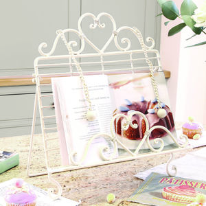 Cream Heart Kitchen Recipe Book Holder