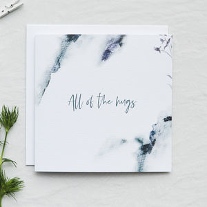 'All Of The Hugs' Sympathy Card - get well soon cards