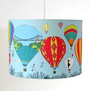Bristol Balloons Illustrated Pendant Or Stand Lampshade - lamp bases & shades