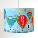 Bristol Balloons Illustrated Pendant Or Stand Lampshade
