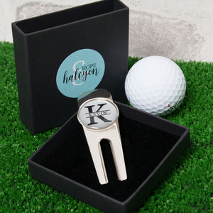 Personalised Name And Initial Golf Divot Tool - new in home
