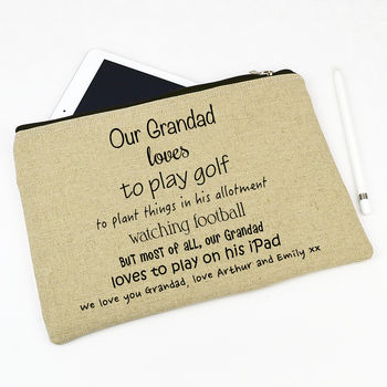 Personalised Grandad Tablet Case