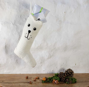 Handmade Polar Bear Christmas Stocking - stylist's christmas gift edit