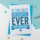 Birthday Card For Godson