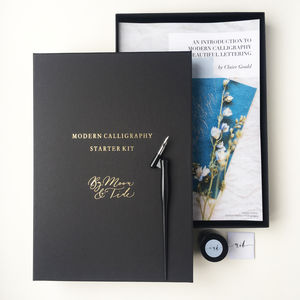 Personalised Modern Calligraphy Set - diaries, stationery & books
