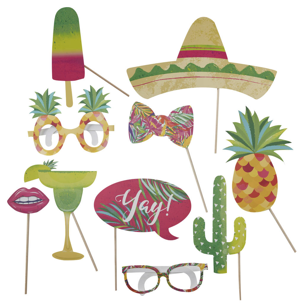 81ae3b69f933 tropical hot summer party photo booth props pack by ginger ray ...