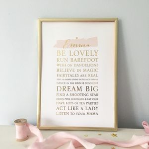 Personalised Whimsical Foil Print