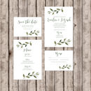 Somerset Luxury Wedding Invitation With Greenery