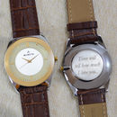 Mens Personalised Wrist Watch Gold And Silver Dial