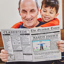 'The Grandad Times' Personalised Newspaper For Grandad