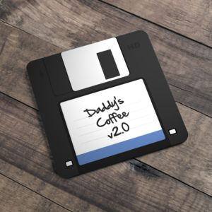 Personalised Geeky Floppy Disc Coaster