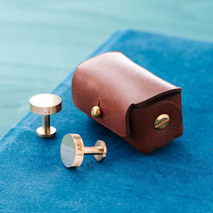 Personalised Solid Bronze Cufflinks - for him