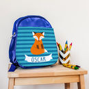 Boy's Personalised Clever Fox Mini Rucksack