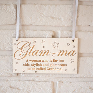 Glam Ma Wooden Sign - home accessories
