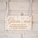 Glam Ma Wooden Sign
