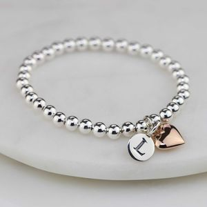 Personalised Children's Rose Gold Heart Bracelet - wedding fashion