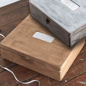 Personalised Wooden Memory Box - gifts for the home