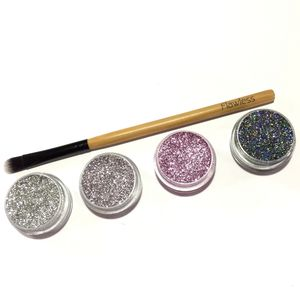Pressed Glitter Eyeshadow Set 'Softs And Bolds' - make-up
