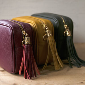 Cross Body Leather Personalised Handbag Winter Colours