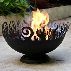 Black Flames Fire Pit
