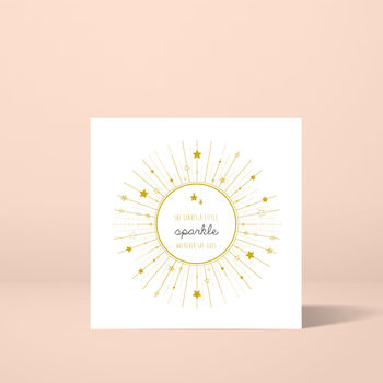 'She Leaves A Little Sparkle' Greeting Card