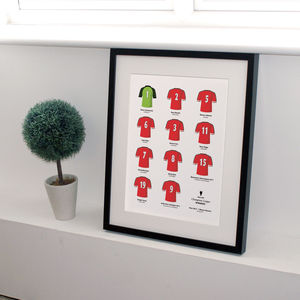 Classic Moments Football Team Print