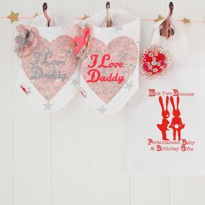 I Love Daddy Bib And Gift Bag