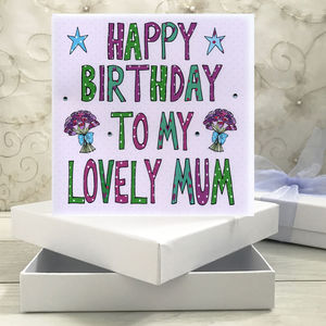 Personalised Mum Birthday Book Card - birthday cards