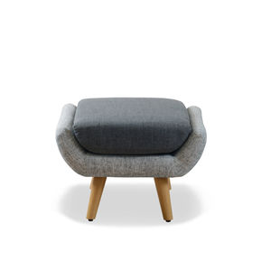 Retro Grey Two Tone Foot Stool - living room
