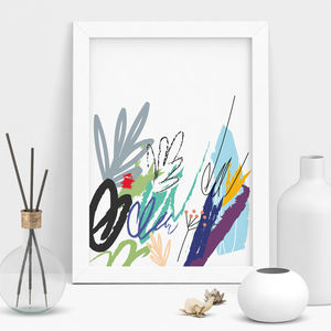 Floral Art Print - modern & abstract