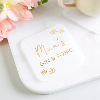 Gin And Tonic Personalised Foil Coaster