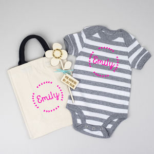 Personalised New Baby Gift Set For Baby And Mum - new baby gifts