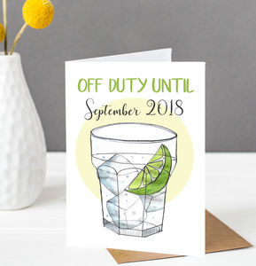 Gin Teacher Card - teacher cards